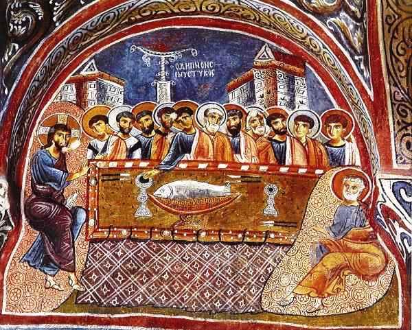 Karanlik Kilise,Cappadocia, Ultima Cena