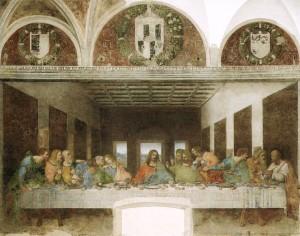 Leonardo da Vinci, Ultima cena, Milano, 1494-98.